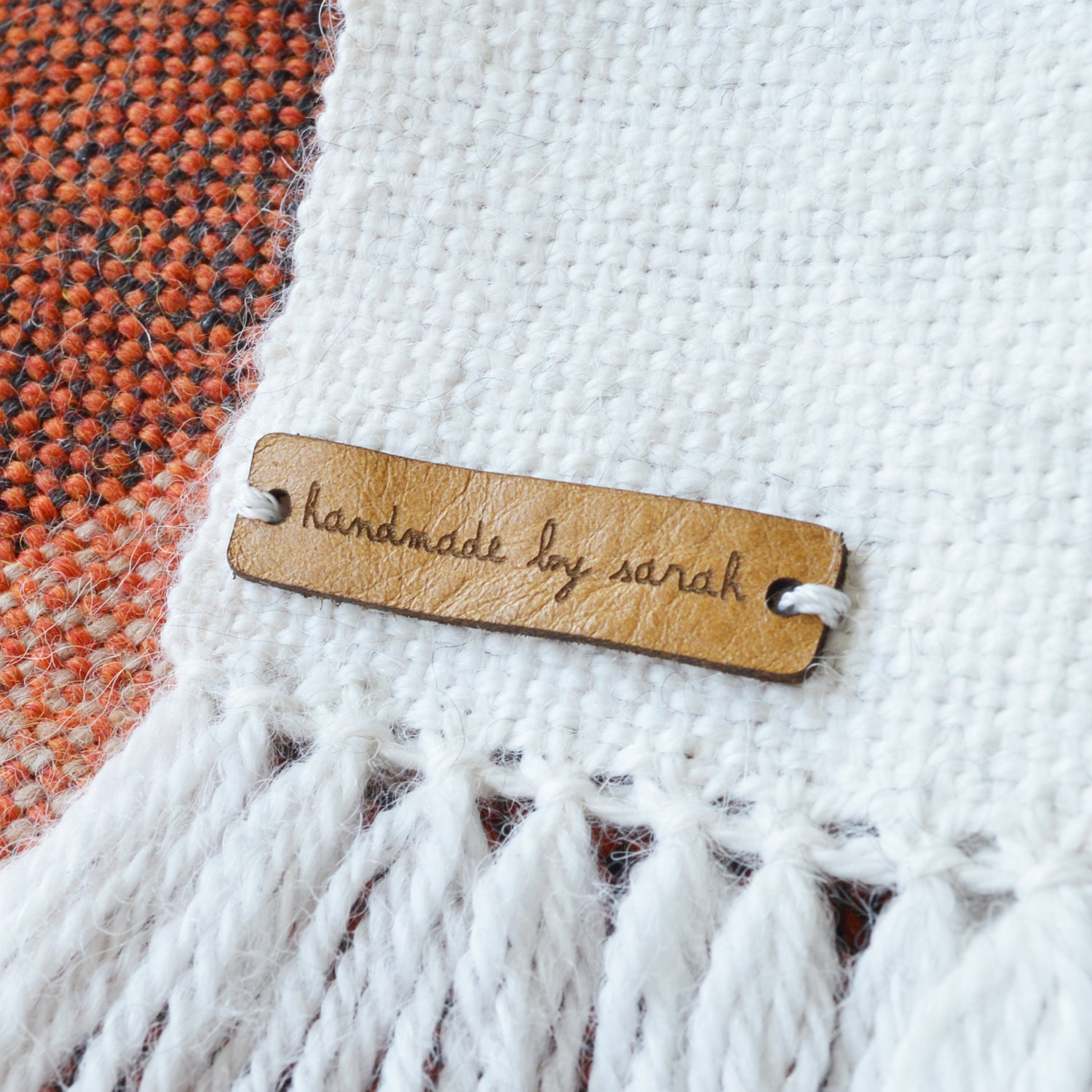 Knitting Labels Canada : Custom leather labels personalized