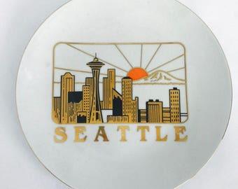 70s Decorative Seattle Plate