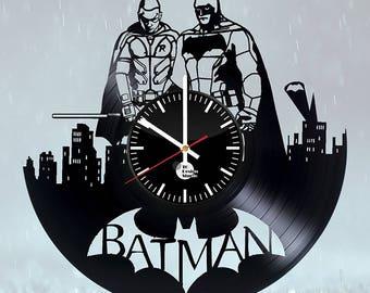 Batman DC Comics Superhero Vinyl Record Wall Clock