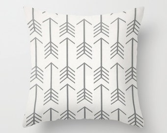 Pillow Cover Decorative Pillows Arrow Pillow Grey Pillow 8 Sizes Available Cushion covers