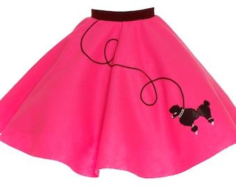 Child Hot Pink 50's POODLE SKIRT