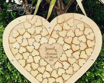 Wedding Guest Book   Alternative Wedding Guest Book   Drop Box   Alternative Rustic Guest Book   Wedding Gift - Heart Shape Drop Box