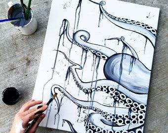 Drip   Octopus Painting