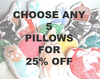 SALE. 25% OFF. You Pick Any 5 Pillows From My Shop. Choose Any Colors. Made to Order. Takes 1-2 weeks.