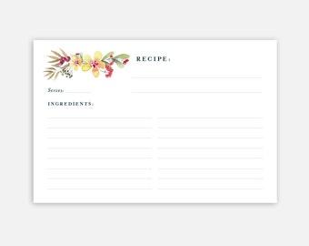 4 x 6 recipe card template
