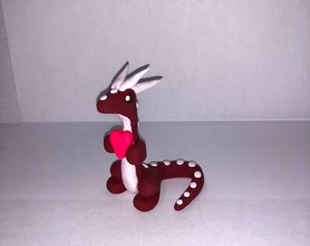 Red and White Valentine's Dragon