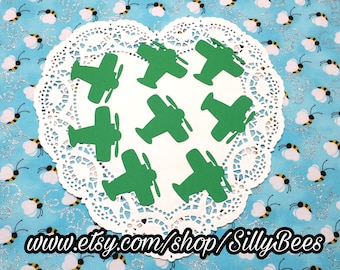 """Airplane Die Cuts Embellishments Confetti: Green (Primary Cardstock) 2.31"""" x 2.4"""""""