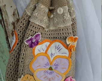 Pretty Pansy Purse Backpack
