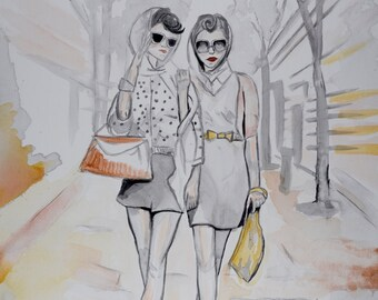 NYC Fashion, original painting and prints