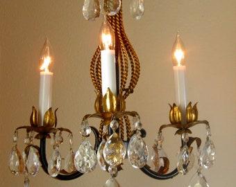 Plafoniere Led Vintage : Petite chandelier etsy