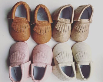 Loubie Classic Baby Booties - Baby Moccasins - Baby Gift - Baby Accessories - Baby Shoes