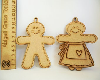 Gingerbread Folk Decorations