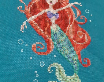 Brooke's Books - 2 of 12 - The Little Mermaid of Andersen's Little Mermaid Collection .PDF INSTANT DOWNLOAD Cross Stitch Chart