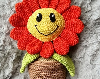 Ready to Ship, Sunflower amigurumi, Sunflower toy, Crochet Sunflower, Flower Amigurumi,flower crochet, flower toy, flower decoration