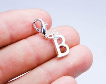 Letter B Charm. Alphabet Letter B Charm. Custom Bracelet Charm. SCC675