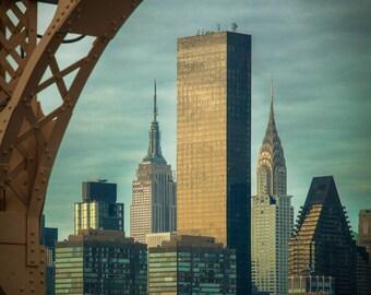 Manhattan as seen from the Queenboro Bridge