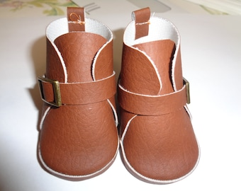Brown Boots  -Slip on Ankle Boots--for 18 Inch dolls--