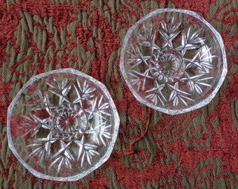 Two Cut Glass Candle Holders