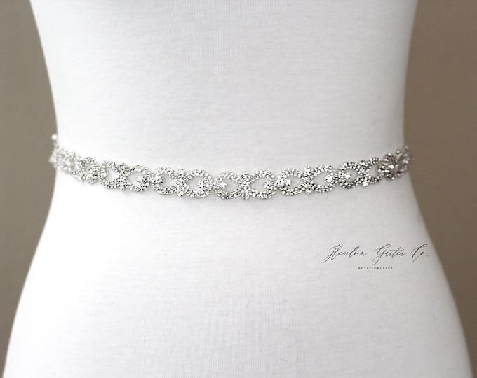 Bridal Belt, Bridal Sash, Beaded Bridal Sash, Wedding Belt, Wedding Sash Rhinestone Sash B55S