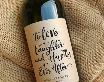 Wedding Gift Wine Labels \\ Thank You Gift \\ Engagement Gift \\ Favors