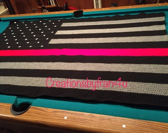 Thin Red Line Afghan
