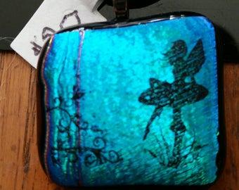 Fairy Dichroic Fused Glass Pendant