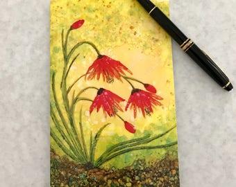 Alcohol Ink Art.  Greeting Card. Note Card.  Print of original alcohol ink art.