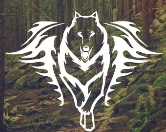 Fearless Wolf Vinyl Decal - Wolf Laptop Decal - Wolf Wall Art - Wolf Wall Vinyl - Wolf Car Decal - Wolf Art - Wolf vinyl decor