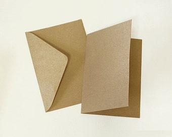 Kraft Envelopes and Paper for making Card (25 envelopes, 25 card papers)