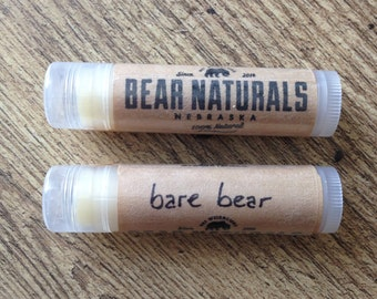BARE BEAR (unflavored) - natural lip balm