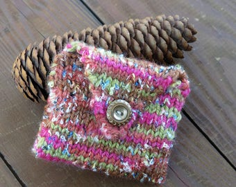 Small Hand Knit Pouch