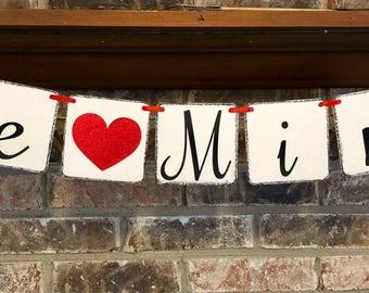 Be Mine Valentine banner