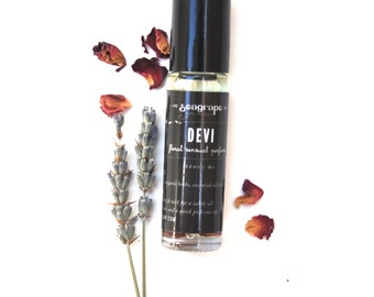 Devi... sexy essential oil perfume with notes of lavender, orange, ylang ylang and sage