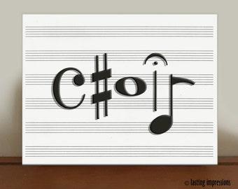 Choir Music Art Print – Piano Graphic Print - Band Graphic Art - Choir Graphic Print - Sing Graphic Art - Dance Graphic Print – Musical Arts