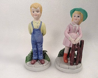Vintage 1979 Avon Boy and Girl Figurine Set