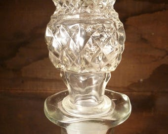 Vintage Anchor Hocking Wexford glass decanter with stopper
