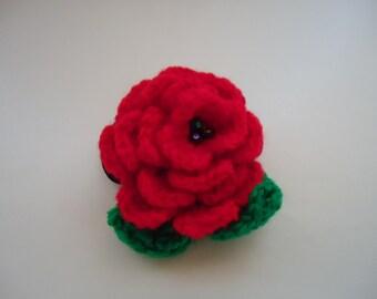 The Spanish Flower. Handmade Crochet PonyTail Holder