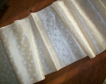 "Wonderful ivory very wide silk ribbon 1 yd. 8"" "" in one length"