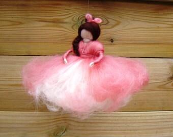 Needle felted ballerina Waldorf ballet doll Bendy doll ballerina stocking stuffer real wool toys for dancer Christmas elf kendal fairies UK