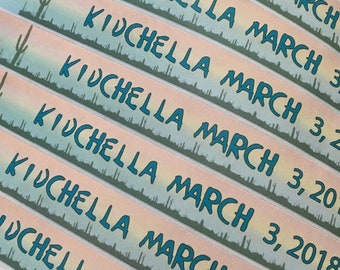 150 Coachella style Paper Wristbands FULL COLOR - same day shipping - Kidchella party wristbands -