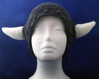 Baby Viking Hat, Kids Viking Costume, Nord Helmet, Skyrim Hat With Horns, Unisex Skyrim Costume Handmade, Wearable Horns, Hats and Caps