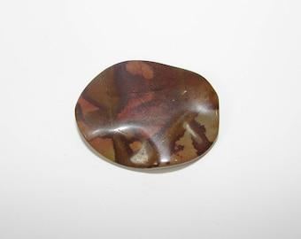 1 Pearl, Jasper artistic Brown puck 40.00 30.00 mm, sold individually. (9791032)