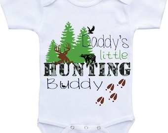Daddy's Hunting Buddy Onesie for baby boy Hunting Season babyshirt, baby hunting outfit, future hunting buddy onesies father and son outfit