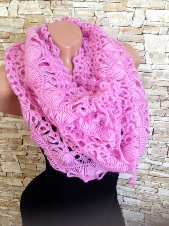 Crochet Scarf Boho wrap infinity scraf Crochet multy use
