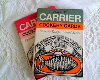 Vintage Robert Carrier Cookery Cards.