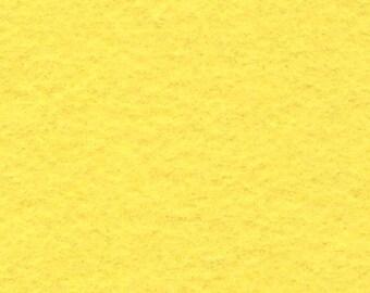 Wool Felt - Banana Cream - Sold by the Half Yard (BTHY)