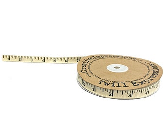 """Creative Impressions 1/2"""" Antique Ruler Twill Tape by the Yard"""