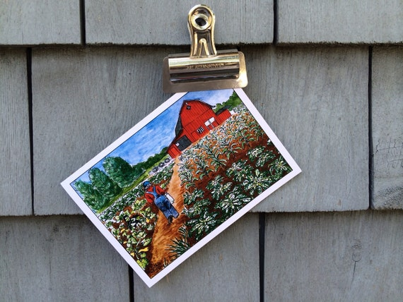 Garden Barn Greeting Card, 5 x 7 (A7), blank inside