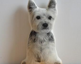 Silkscreen Yorkshire Terrier Pillow
