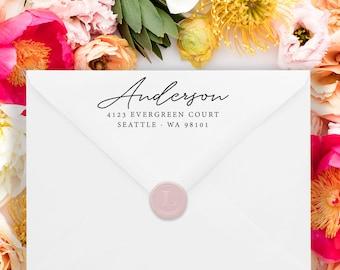 Custom Address Stamp - Return Address Stamp - Wedding Address Stamp - Minimal Address Stamp - Personalized Address Stamp  No.133